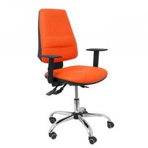Scaun de birou Similpiel, portocaliu/negru, 60 x 57 cm