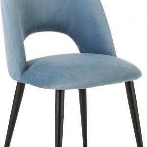 Scaun Rachel, albastru/negru, 53 x 89 x 57 cm