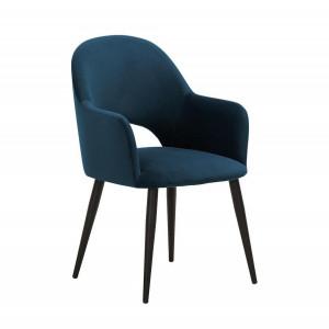 Scaun Rachel, metal/poliester, albastru inchis, 64 x 47 x 87 cm