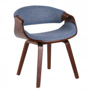 Scaun Tamara, lemn, maro/albastru, 60 x 53 cm
