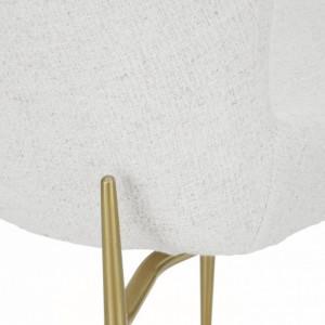 Scaun Tess, alb-crem/auriu, 49 x 84 x 64 cm