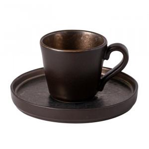 Serviciu de cafea Mcgary, pentru 6 persoane, bronz inchis