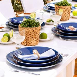 Serviciu de cina Nova, albastru, 18 piese
