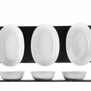 Set aperitiv ardesie si portelan 30 x 10 cm