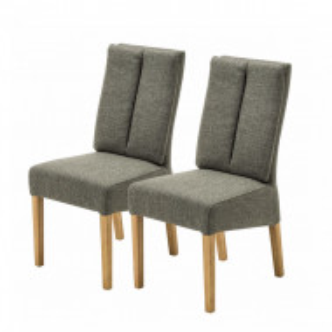 Set de 2 scaune Alder II tesatura / stejar, verde oliv, 48 x 100 x 62 cm