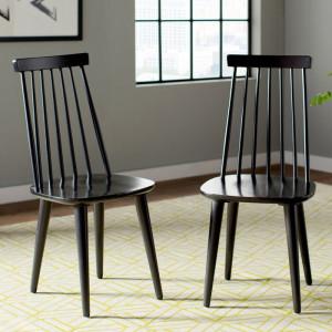 Set de 2 scaune Arikara, negre, 91,44 x 49 x 52 cm