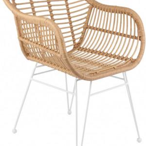 Set de 2 scaune Costa, maro, 59 x 81 x 58 cm