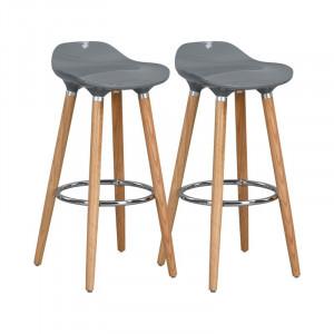 Set de 2 scaune de bar Santa Maria 73cm gri