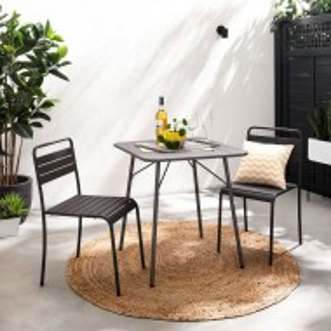 Set de 2 scaune de fier Kansas, negru