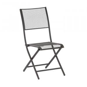 Set de 2 scaune de gradine Carnation, gri/grafit, 89 x 42 x 54 cm