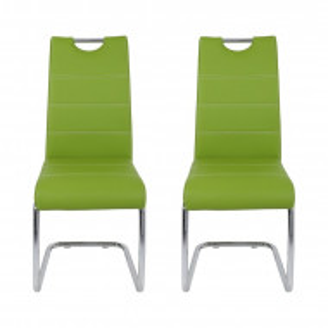 Set de 2 scaune Flora din metal, verde, 98 x 43 cm
