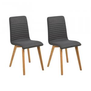 Set de 2 scaune Hanna, lemn, antracit, 90 x 42 x 43 cm