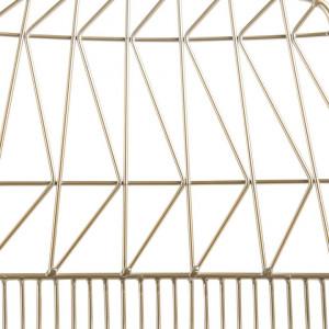 Set de 2 scaune HARLAN, aurii, 53 x 50 x 78 cm