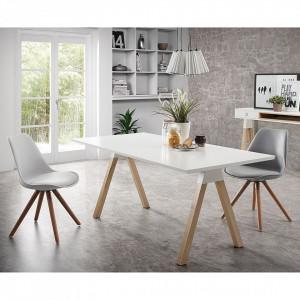 Set de 2 scaune Langford Lindholm II cu picioare din lemn masiv