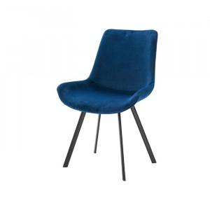 Set de 2 scaune Lilian, albastre, 84 x 54 x 61 cm