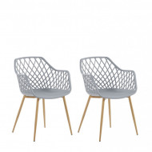 Set de 2 scaune Nashua, maro/gri, 50 x 51 x 86 cm
