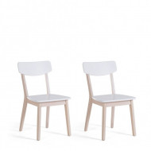 Set de 2 scaune Santos, alb, 76 x 44 cm