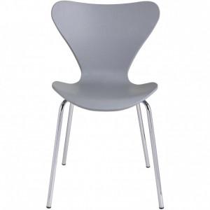 Set de 2 scaune stivuibile Tessa din plastic, gri