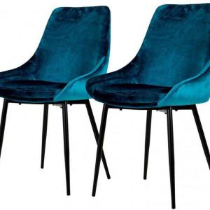 Set de 2 scaune Tenzo albastru, 85 x 47 cm