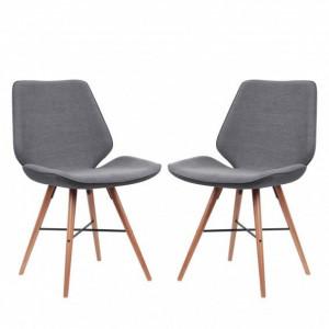 Set de 2 scaune Tove tesatura, gri, 44.4 x 84.4 x 50 cm