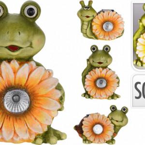 Set de 3 animalute de ceramica Karll floarea soarelui cu lumina solara