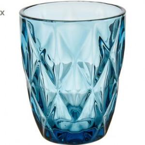 Set de 4 pahare de apa Colorado, albastre, Ø 8 x Inaltime 10 cm