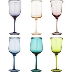 Set de 6 pahare de vin Desigual, multicolor