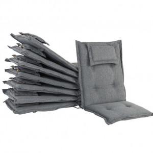 Set de 8 perne de scaune de exterior Maui, gri, 55 x4 2 cm