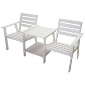 Set de masuta si 2 scaune Palomar, albe