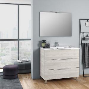 Set de mobilier pentru baie Erica, alb, 190 x 8,1 x 46,5 cm