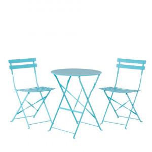 Set de o masa si 2 scaune de gradina Fiori, albastru