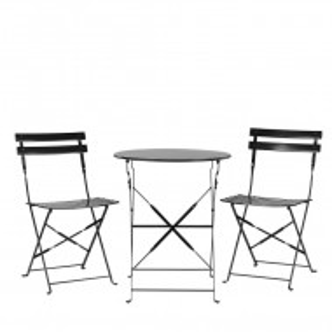 Set de o masa si 2 scaune de gradina Fiori, negru