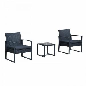 Set de o masa si 2 scaune Melody, negru