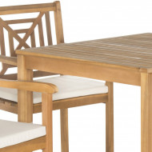 Set de o masa si 4 scaune de gradina Sterger, lemn masiv, maro