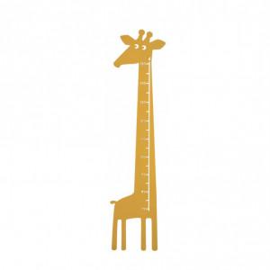 Stiker masurare copii Girafa, galben, 28 x 115 cm