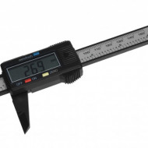 Subler Karll digital 150 mm, fibra de carbon