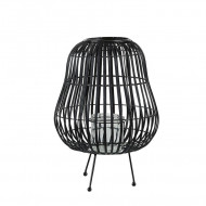 Suport pentru lumanari BERKNER, lemn, negru, 31 x 31 x 44 cm