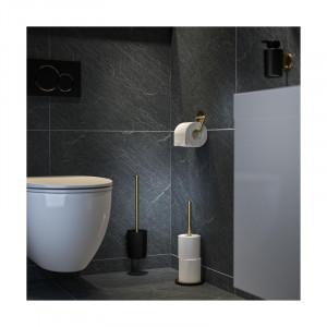 Suport pentru perie de toaletă Tune, negru / auriu