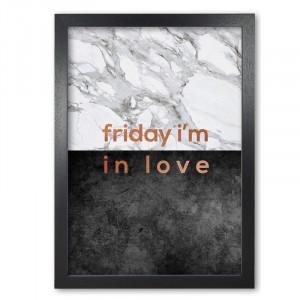 Tablou 'Friday I'm In Love Copper', 30 x 21 cm
