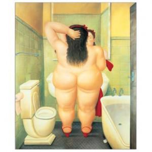 Tablou pe MDF The Bath, 63 x 77 cm