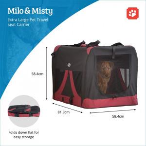 Transportor L pentru animale talie mica si medie Milo&Misty