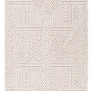 Traversa Tang, cu franjuri, bej/crem, 80 x 240 cm