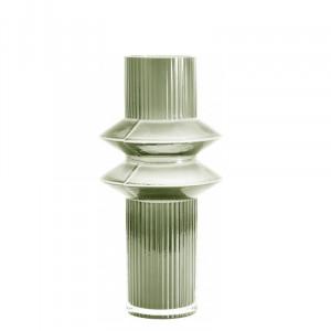 Vaza pentru flori Rilla, verde transparent, 9 x 32 cm