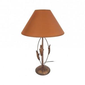 Veioză Coppage oțel/ țesătură, portocaliu, 48 x 30 x 30 cm