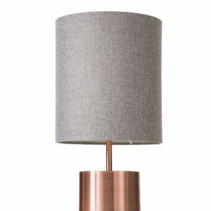 Veioza Mello, tesatura/metal, gri/cupru, 20 x 50,5 cm, 40w