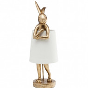 Veioza Rabbit, alb/auriu, 23 x 68 cm