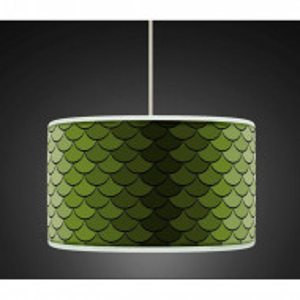 Abajur, verde, 26cm H x 50cm W x 50cm D