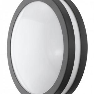 Aplica LED Locana policarbonat / otel, 1 bec, gri, diametru 26 cm, 240 V, 3000 K