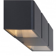 Aplica LED Outdoor Collection VI aluminiu, 2 becuri, negru, 230 V, 2700 K
