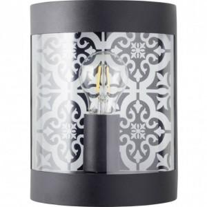 Aplica Lison II, metal/plastic, neagra, 18 x 24 x 10 cm, 40w